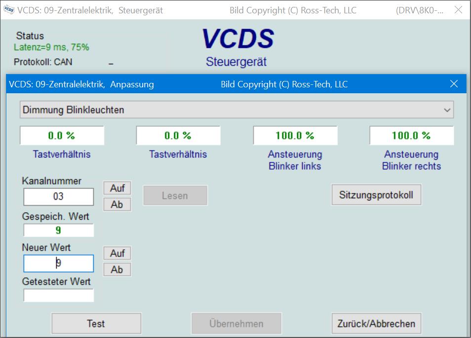 VCDS-Anpassung Übersicht