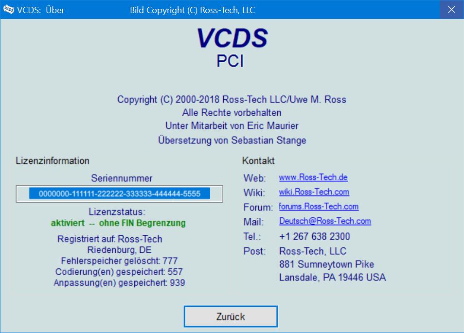 VCDS-UeberPCI Übersicht